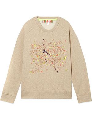 ANNE KURRIS Embroidered Bambi sweatshirt 2-12 years