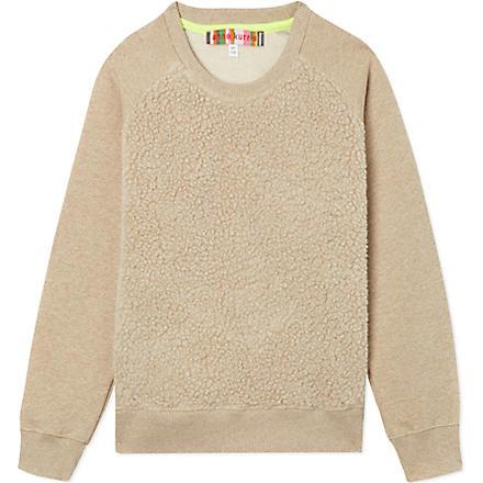 ANNE KURRIS Faux-fur sweatshirt 2-12 years (Cream