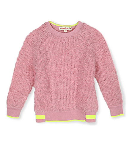 ANNE KURRIS Fluffy knitted jumper 2-12 years (Pink