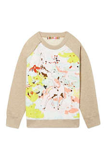 ANNE KURRIS Bambi print jumper 2-12 years