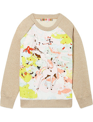 ANNE KURRIS Bambi print jumper 2-12 years