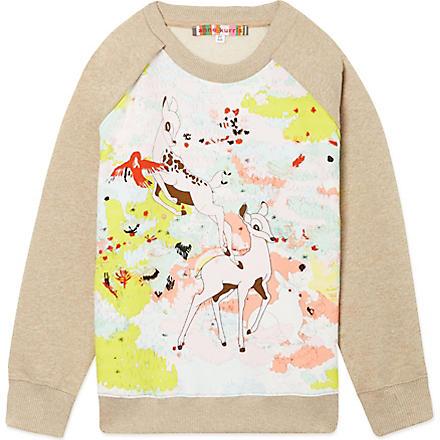 ANNE KURRIS Bambi print jumper 2-12 years (Camel
