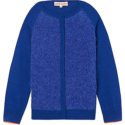 ANNE KURRIS Fluffy cardigan 2-12 years (Blue