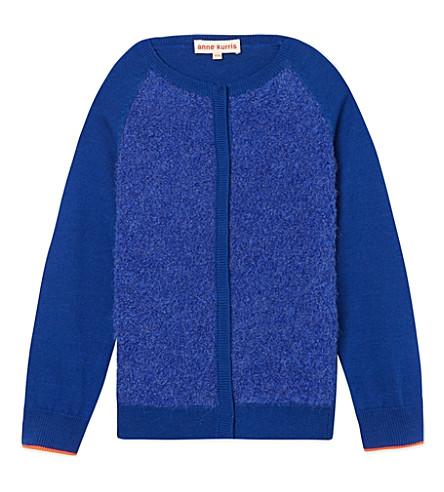 ANNE KURRIS Fluffy cardigan 2-12 years (Blue