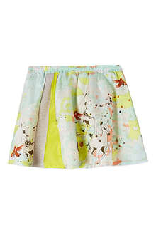 ANNE KURRIS Bambi print silk skirt 2-12 years