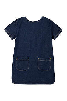 TOOTSA MACGINTY Buttoned denim shift dress 2-8 years