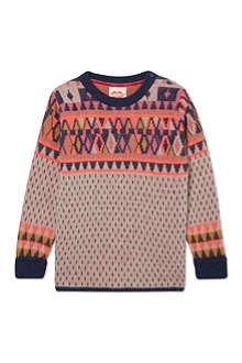 TOOTSA MACGINTY Neon Fairisle wool jumper 2-8 years
