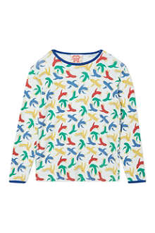 TOOTSA MACGINTY Multicoloured bird print t-shirt 2-8 years