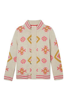 TOOTSA MACGINTY Patterned thick wool cardigan 2-8 years