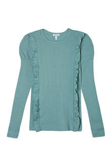 MINI A TURE Mini ruffle front long sleeve tee 2-8 years