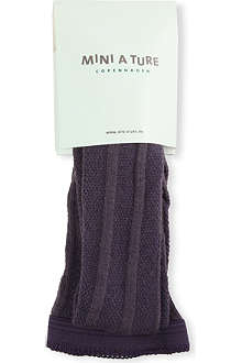 MINI A TURE Cable-knit stretch-wool tights 2-8 years
