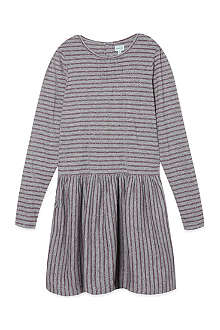 MINI A TURE Lurex stripe jersey dress 2-8 years