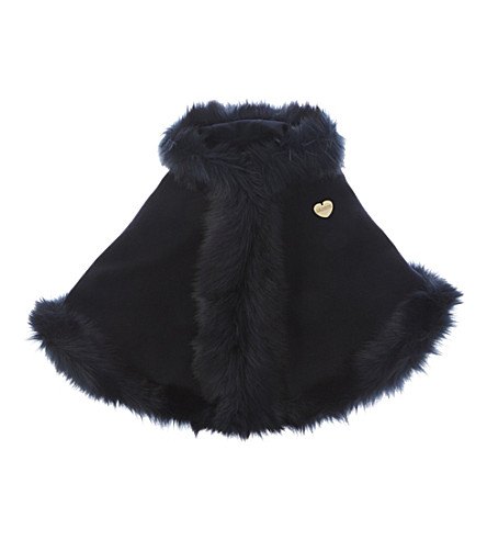 BANDITS GIRL Classic faux-fur cape l-xl (Navy