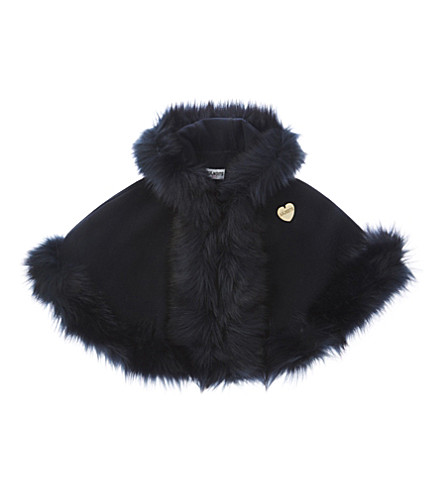 BANDITS GIRL Classic faux-fur cape xs-m (Navy