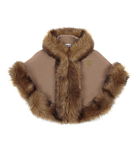 BANDITS GIRL Faux fur cape XS-XL (Camel