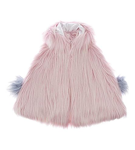 BANDITS GIRL Fluffy faux-fur cape xs-l (Pink