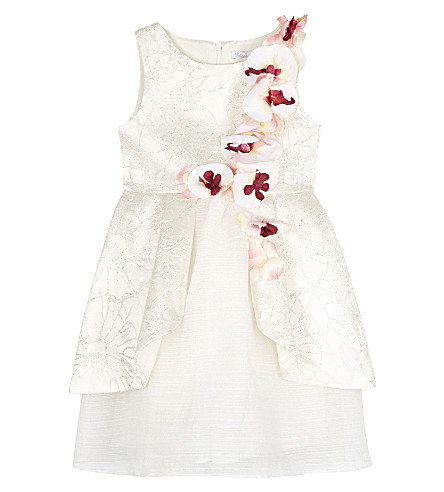 PATACHOU Flower dress 4-14 years (Champaign+cream