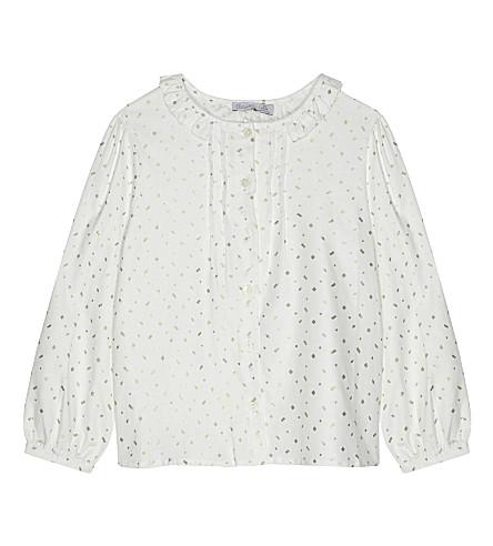 PATACHOU Metallic speck blouse 4-14 years (Off+white