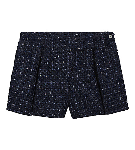 PATACHOU Pleated bow detail shorts (Chanel+blue