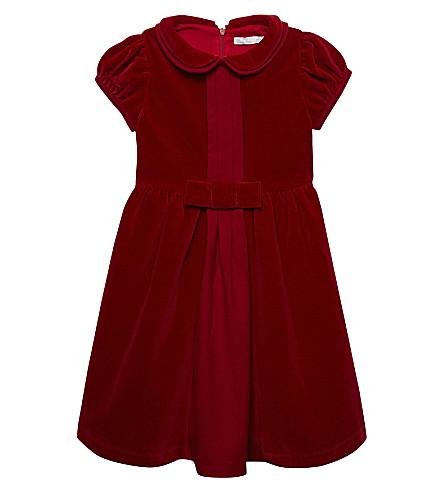 PATACHOU Velvet Peter Pan collar dress 4-14 years (Red