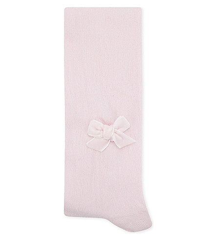 PATACHOU Bow detail cotton tights 3-12 years (Pink