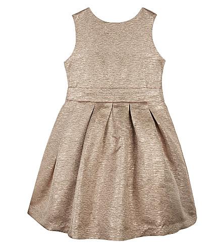 PATACHOU Metallic bow-detail sleeveless dress 4-14 years (Rose+gold