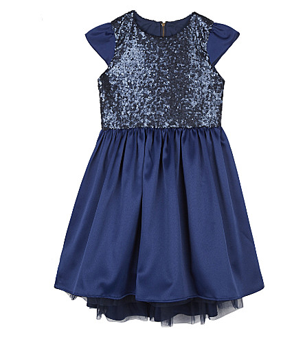 PATACHOU Short-sleeved sequinned dress 4-14 years (Navy