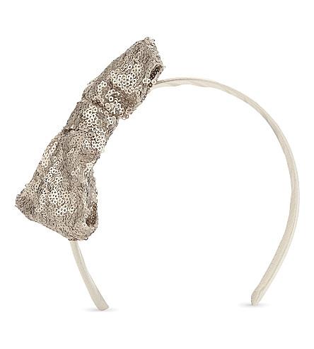 PATACHOU Sequin bow headband (Gold