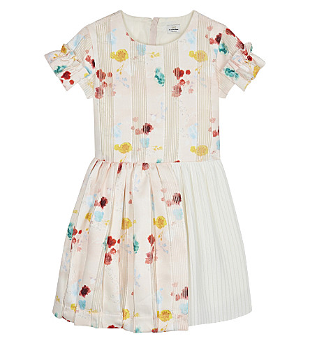 NO ADDED SUGAR Floral pleated fit and flare dress 4-12 years (Reminiscent+floral