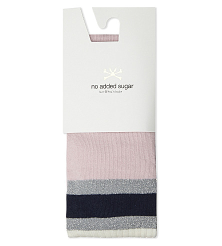 NO ADDED SUGAR Multi-tonal cotton-blend tights 3-10 years (Doodling+pink