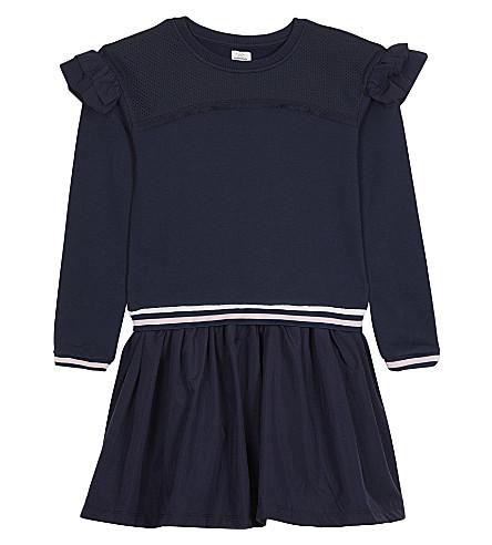 NO ADDED SUGAR 折边运动衫连衣裙4-12 年 (靛蓝 + 釉