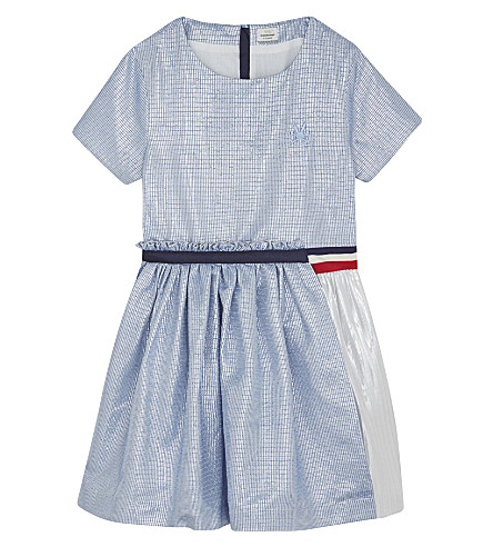 NO ADDED SUGAR Lurex fit and flare dress 4-12 years (Blue/silver