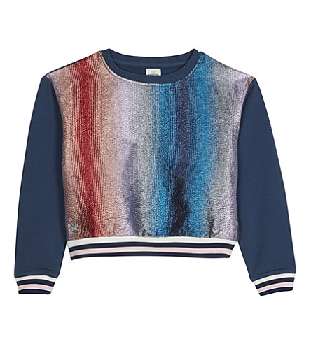 NO ADDED SUGAR Glitter stripe sweatshirt 4-12 years (Lurex+stripe