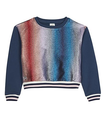 NO ADDED SUGAR Glitter stripe sweatshirt 4-12 years (Lurex+stripe