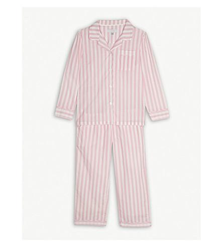 LITTLE YOLKE Candy cane stripe pyjama set 3-10 years (Pink/white