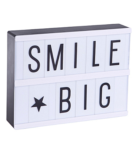 A LITTLE LOVELY COMPANY Smile Big A5 LED lightbox