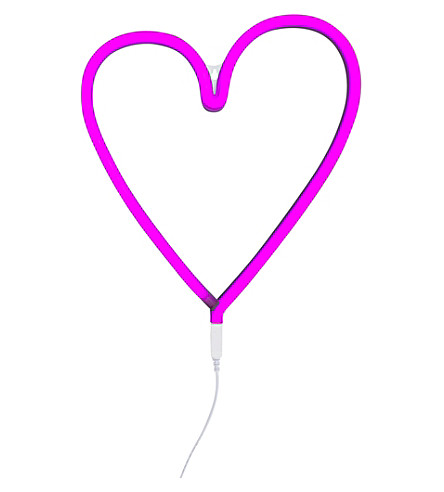 A LITTLE LOVELY COMPANY Heart neon light (Pink
