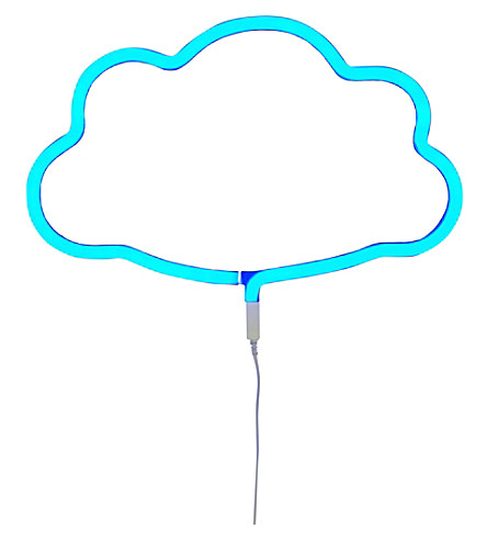 A LITTLE LOVELY COMPANY Cloud neon light (Blue