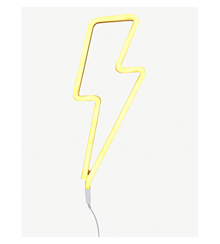 A LITTLE LOVELY COMPANY Lightning bolt neon light (Yellow