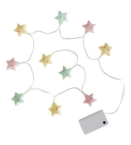 A LITTLE LOVELY COMPANY Star LED string light (Pastel