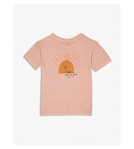 BOBO CHOSES Sun print organic cotton t-shirt 4-11 years (Pink