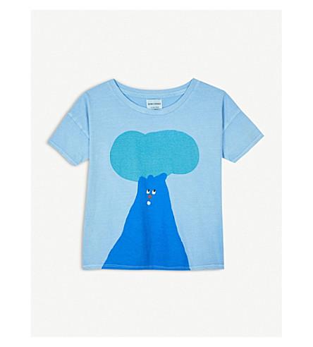 BOBO CHOSES Tree printed cotton-jersey T-shirt 4-11 years (Blue