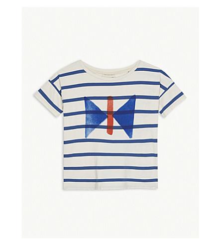 BOBO CHOSES Stripe butterfly cotton T-shirt 4-11 years (Cream
