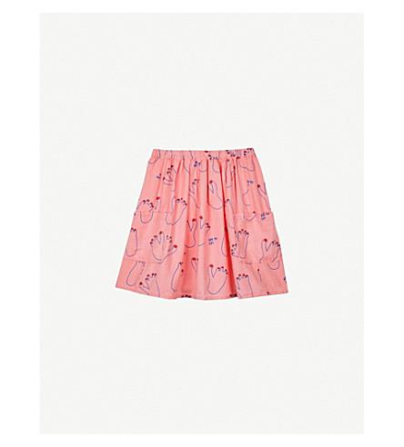 BOBO CHOSES Ape Me Up! Foot-print cotton piqué skirt 4-11 years (Pink