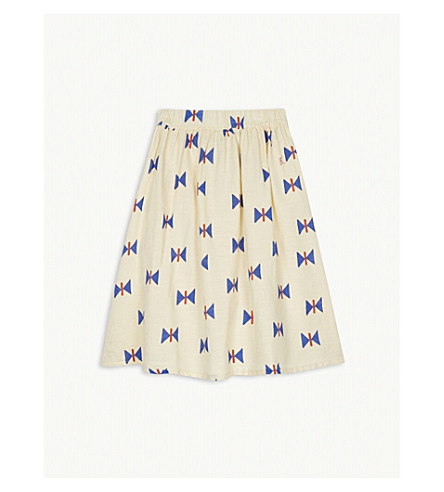 BOBO CHOSES Butterfly print cotton skirt 4-11 years (Cream