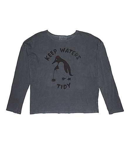 BOBO CHOSES Keep Waters Tidy cotton top (Grey