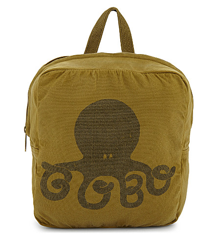 BOBO CHOSES Octopus canvas backpack (Yellow