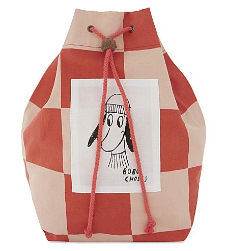 BOBO CHOSES Dog print drawstring pouch (Pink