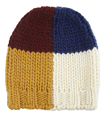 BOBO CHOSES Multi-coloured square knitted hat (Multi