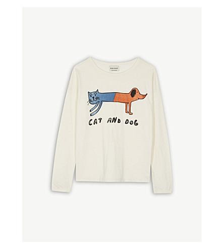 BOBO CHOSES Dog and cat organic cotton top 4-11 years (Cream